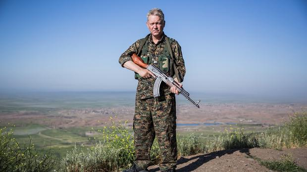 British actor Michael Enright says he has abandoned his Hollywood career to fight Islamic State in Syria (Uygar Onder Simsek/PA)