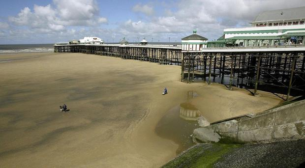 Ashley West, 26, died at hospital after getting into trouble off Blackpool beach