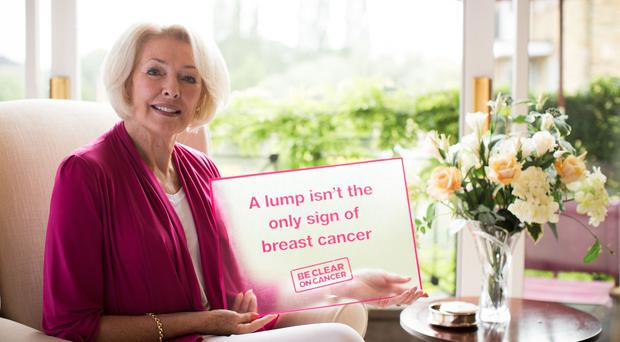 Diana Moran supporting the Be Clear on Cancer campaign (Freuds/PA)