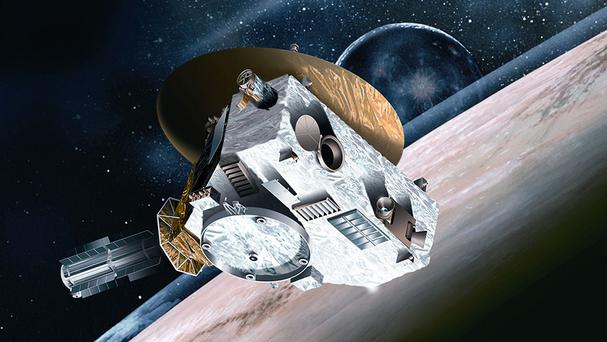 An artist's impression by Johns Hopkins University Applied Physics Laboratory of the New Horizons spacecraft