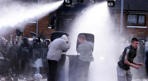 Water cannon can only be used with Home Office authorisation (file)