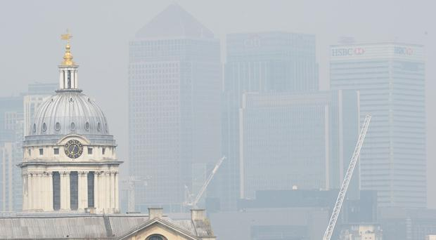 Pollution over London, as research revealed for the first time the impacts of nitrogen dioxide on mortality in the capital