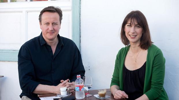 Prime Minister David Cameron and his wife Samantha during a holiday on the Spanish island of Lanzarote in June