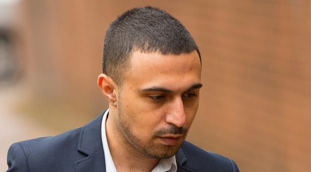 Actor Adam Deacon arriving at Hammersmith Magistrate's Court, London, where he is accused of posting abusive and threatening messages on social media relating to actor Noel Clarke