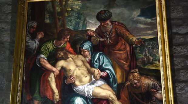 The fully cleaned and revived painting by Francesco Montemezzano, inside St John the Baptist CE Church in Tunstall, Lancashire