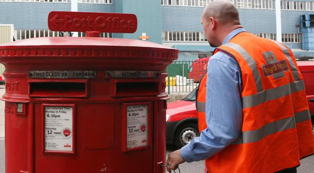 Royal Mail said the number of letters delivered fell 5%