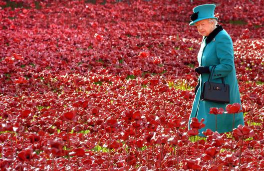 The Queen visits the Tower of London's Blood Swept Lands and Seas of Red installation, which is set to be replicated in Northern Ireland in 2017
