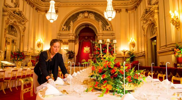 All aspects of the great occasion from laying the enormous horse-shoe table to preparing the wines and inviting guests are chronicled in the exhibition A Royal Welcome
