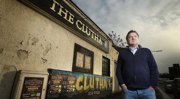 Owner Alan Crossan outside the Clutha pub, which is set to reopen
