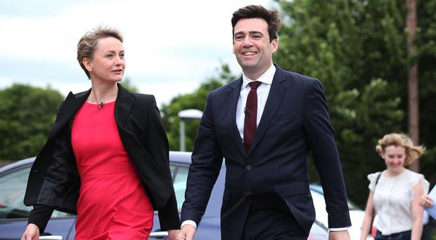 Yvette Cooper said the message coming out of Andy Burnham's camp was that she and Liz Kendall should drop out of the race