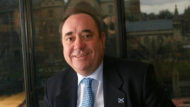 Alex Salmond said the timing of a second referendumm was in the hands of Nicola Sturgeon
