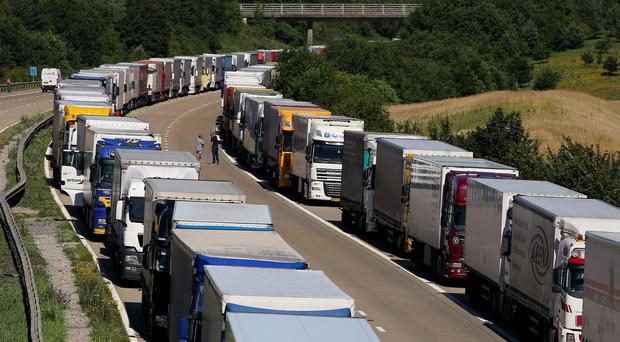 Police have reintroduced Operation Stack on the M20