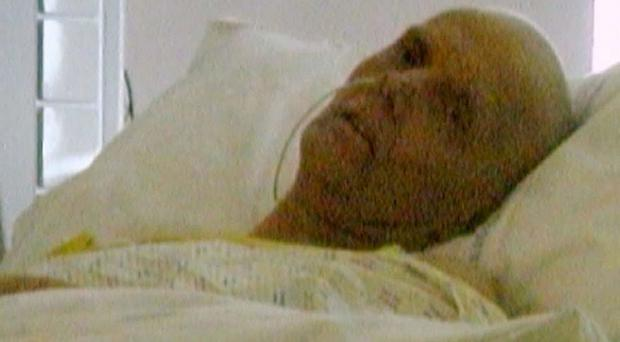 The last photo taken of poisoned spy Alexander Litvinenko alive (Litvinenko Inquiry/PA)