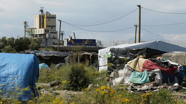 A view of shelters in the migrant camp known as the Jungle
