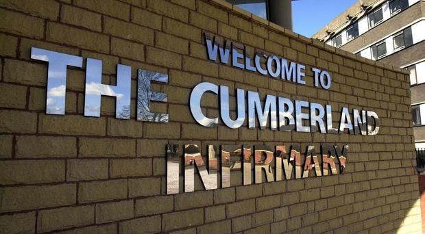 The man died at the Cumberland Infirmary