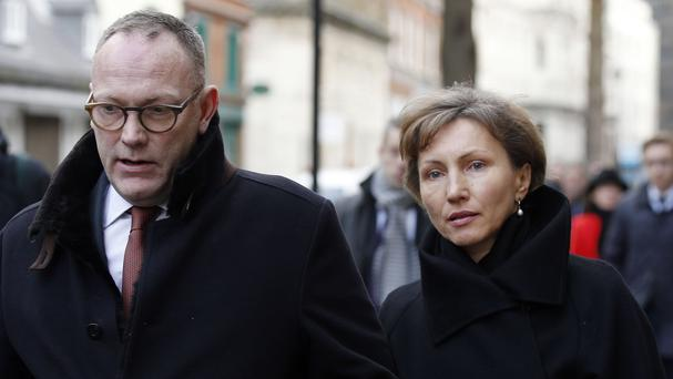 Ben Emmerson, pictured with Marina Litvinenko, said the evidence pointed towards Russian president Vladimir Putin