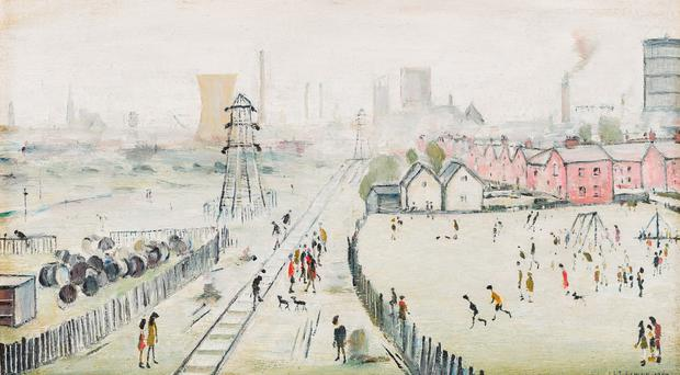 'A View of York (From Tang Hall Bridge)' by LS Lowry