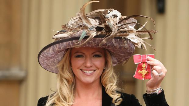 Founder of Ultimo lingerie Michelle Mone with her OBE. Reports say she is to join the House of Lords.