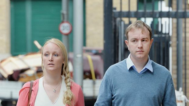 Tom Hayes, pictured with wife Sarah, was seen as the