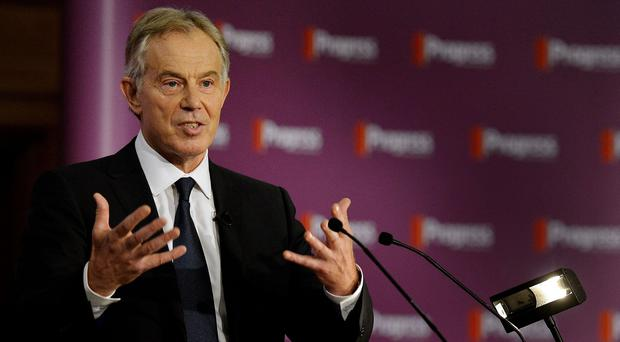 Former prime minister Tony Blair who could face war crimes charges according to Labour leadership contender Jeremy Corbyn