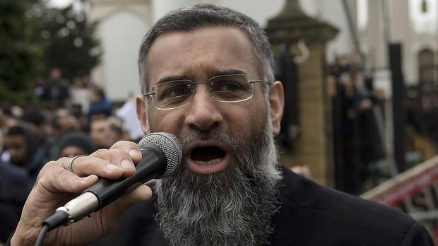 Anjem Choudary speaking outside London Central Mosque