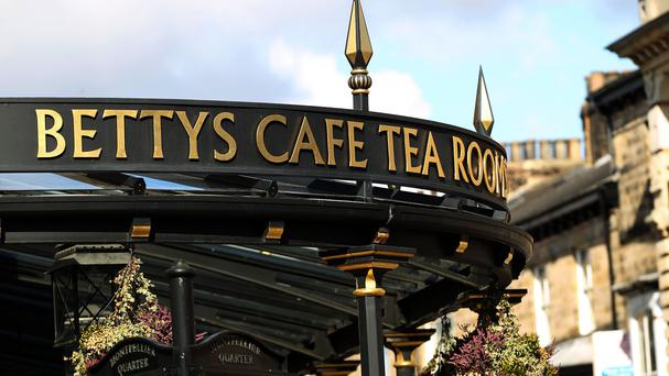 Betty's Cafe Tea Room is one of Harrogate's more famous landmarks