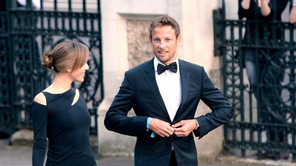 Jenson Button and his wife Jessica were with friends on holiday in a rented villa in St Tropez