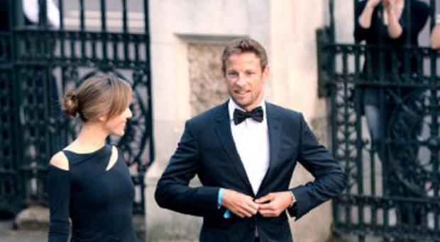 Jenson Button and his wife Jessica were with friends on holiday in a rented villa in St Tropez.