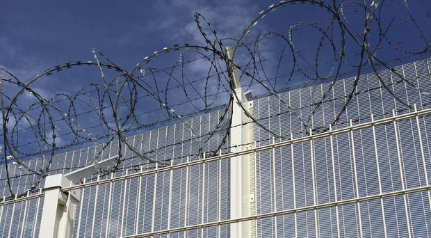 Temporary National Barrier Assets fencing installed to secure the Eurotunnel platform area in Coquelles (Home Office/PA)