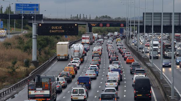 The accident led to tailbacks on the M25
