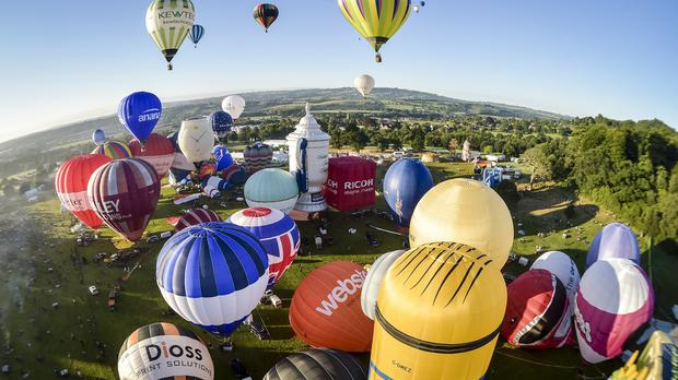 Balloons of all shapes and sizes have been seen above the skies of Bristol