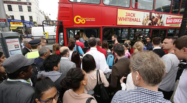 The Tube strike caused transport congestion in the capital