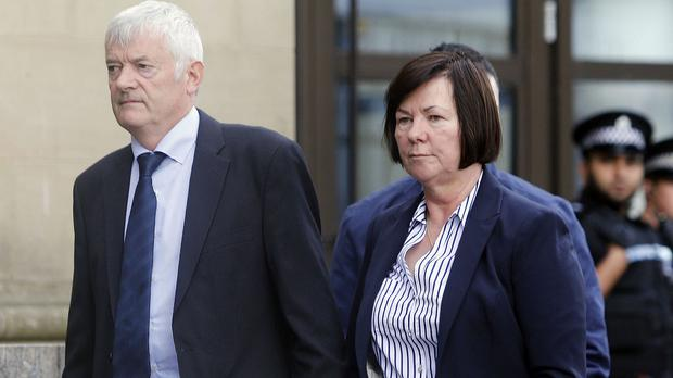 The parents of Karen Buckley, John and Marian, arrive at the High Court in Glasgow as a 21-year-old man admitted her murder