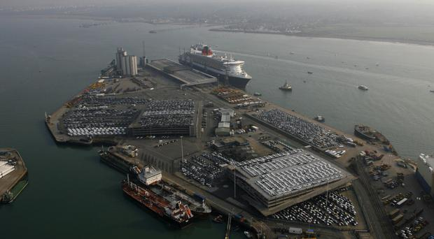 The three immigrants were arrested at Southampton Docks