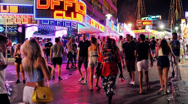 The Punta Ballena, the main club strip in Magaluf, is often the scene of antics by British revellers
