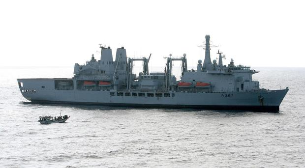 RFA Fort Victoria is in the Gulf providing support to coalition warships