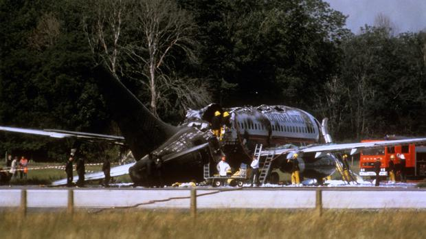 The rear of the plane was particularly affected