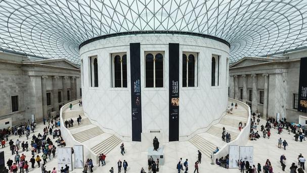 The Great Court inside the British Museum, which has been named as a global must-see spot, alongside some of the world's most prestigious heritage sites