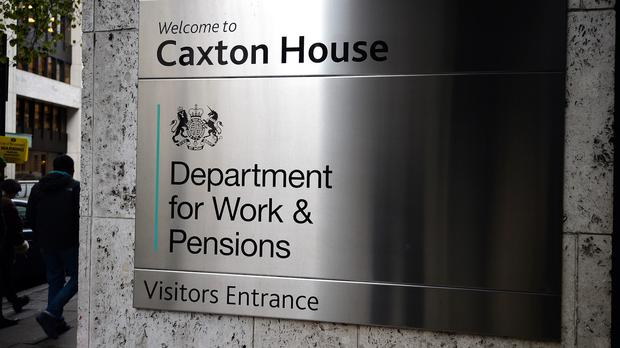 The Department for Work and Pensions says it has temporarily changed the pictures to silhouettes