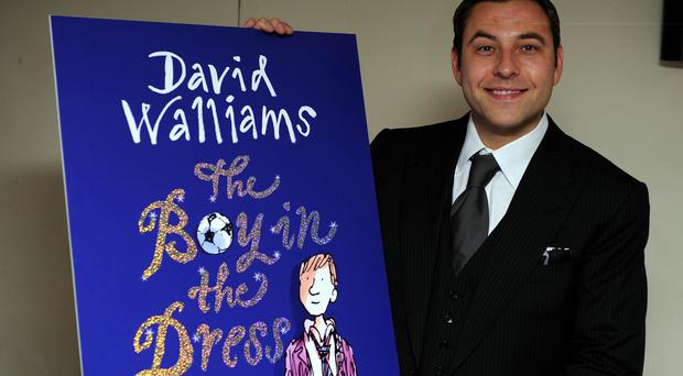 David Walliams at the launch of his book The Boy In The Dress' in London