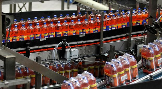 New bottling equipment is being installed at the Irn-Bru factory in Cumbernauld