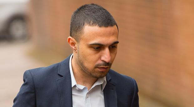 Actor Adam Deacon arriving at Hammersmith Magistrate's Court