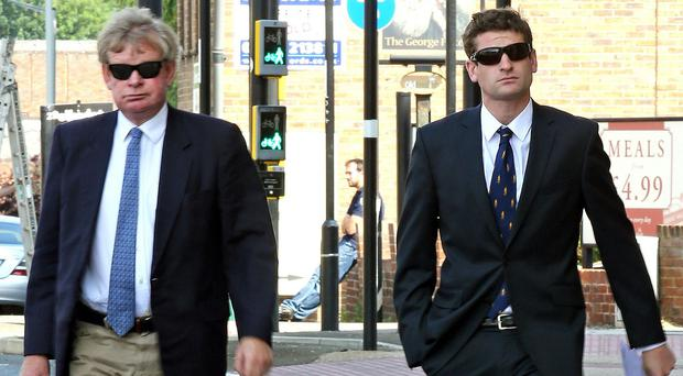 Henry Bett (right) is to be sentenced for causing death by dangerous driving, seen here with his father Stephen Bett