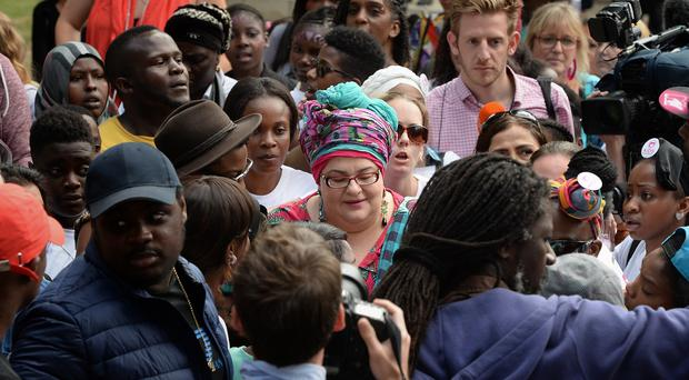 Kids Company founder Camila Batmanghelidjh, seen here taking part in a march to Downing Street to protest against the charity's closure