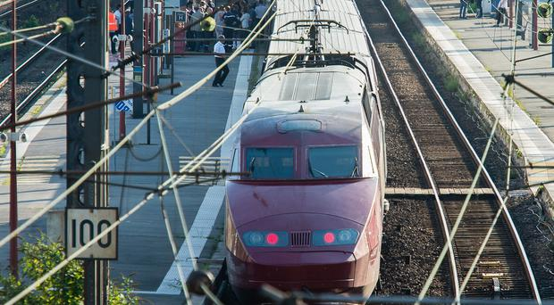 A Thalys train of French national railway operator SNCF (AP)