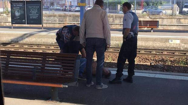 The scene at Arras train station in northern France after a man was arrested when a gunman opened fire on train passengers (Taken with permission from the Twitter feed of @FreedomFilmLLC).