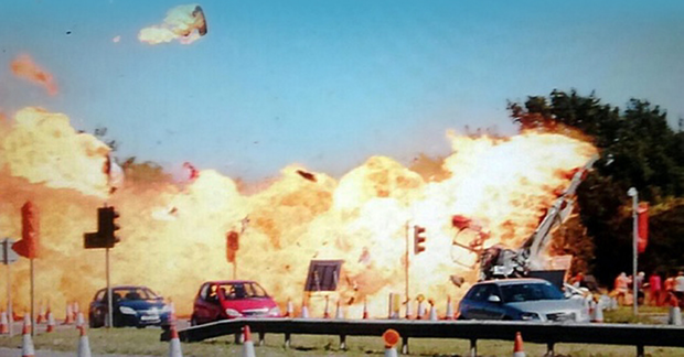 The huge fireball which claimed the lives of 11 people after a jet crashed while trying to perform a stunt at Shoreham Airshow