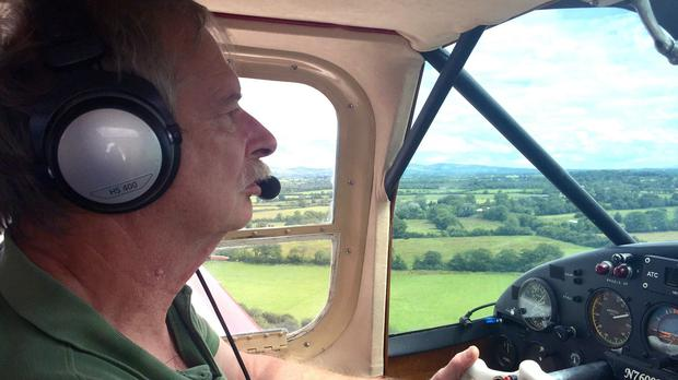 Howard Cox, 67, died when his home-built mini-jet crashed on the way to an air show