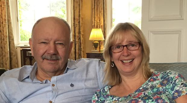 Bob Semple, who was held hostage in Yemen, and his wife Sallie (Foreign and Commonwealth Office/PA)