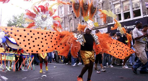 The Notting Hill Carnival is known for its colourful parade